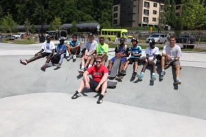 Teens at Skate Camp