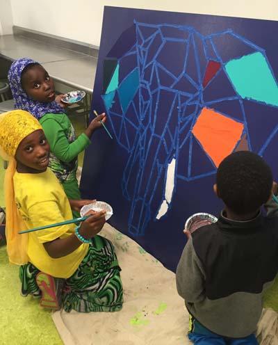 Afterschool program painting