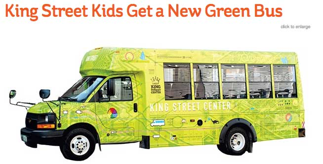 Kids Vermont King Street Kids Get A New Green Bus