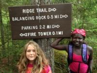 Ridge Trail Sign Hiking