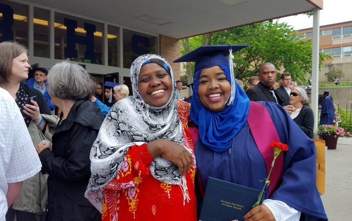 Hawa and her mom