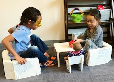 Sitting Preschoolers