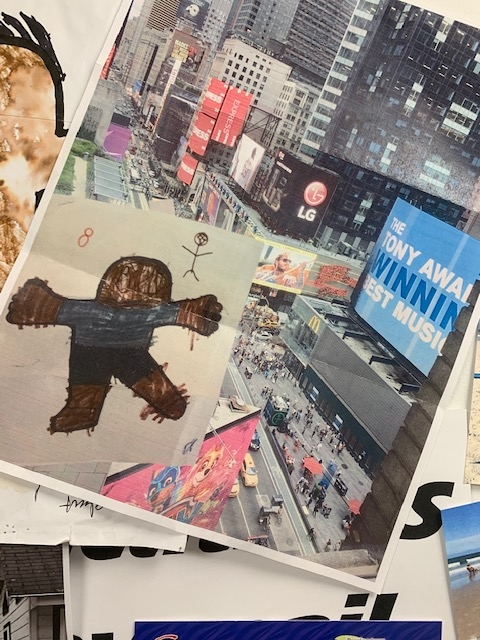 Flat Stanley in Time's Square